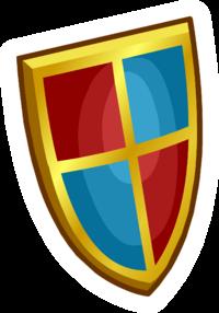 Pin de Escudo Medieval icono