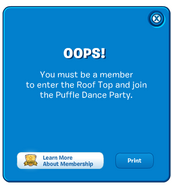 Puffle Party 2012 Night Club Rooftop membership popup