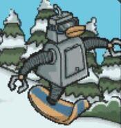 SnowBot game get away