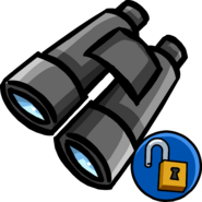 Binoculars unlock icon