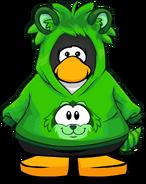 Cangurito de Mapache Verde carta