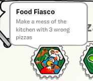 Food fiasco stamp book