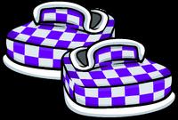 Zapatos a Cuadros Violetas icono