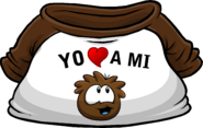 I Heart My Brown Puffle T-Shirt icon es