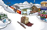Medieval Party 2009 construction Ski Village