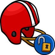 Red Football Helmet unlockable icon