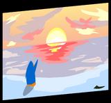 Sunset Painting sprite 002