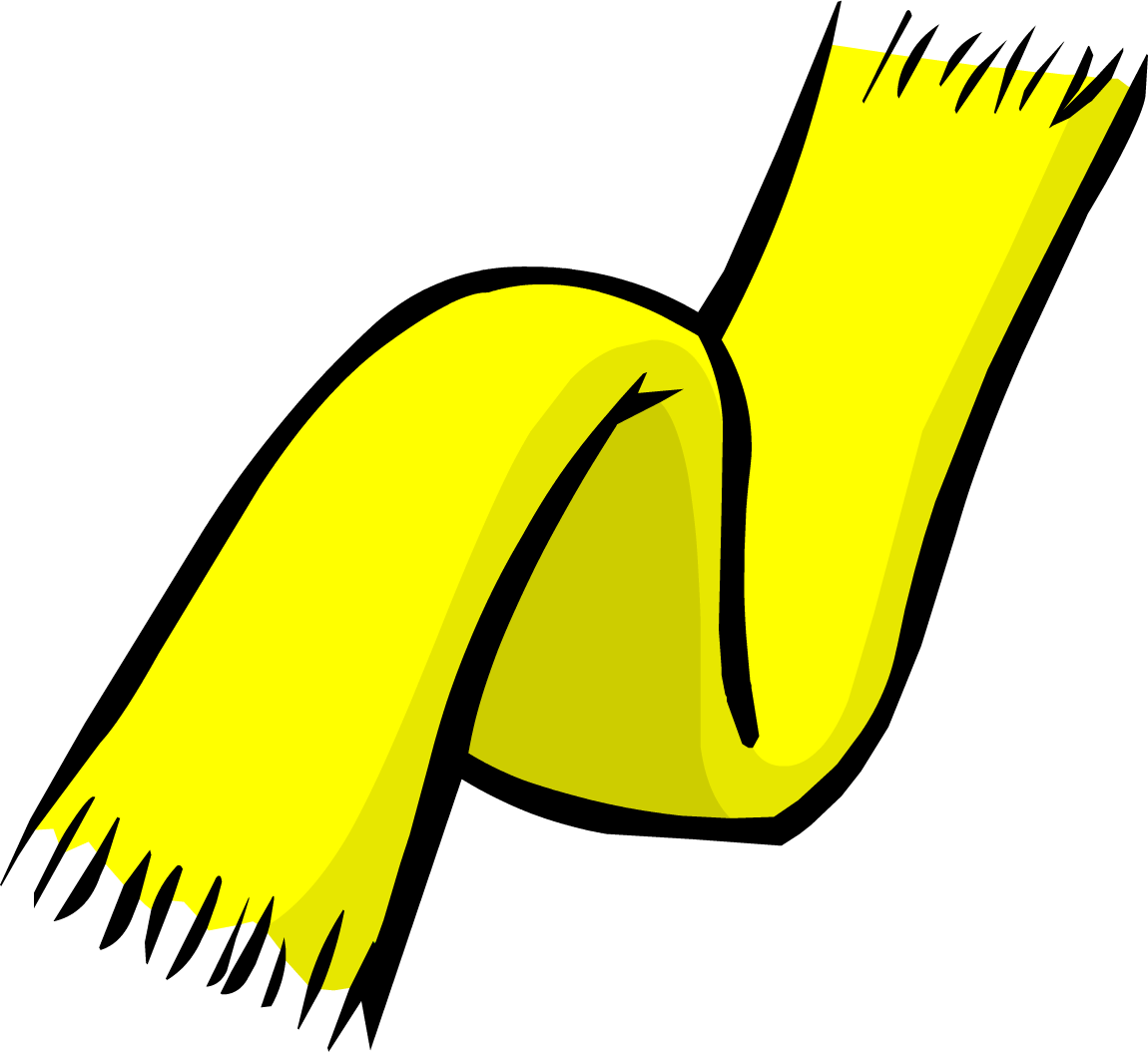 Image result for club penguin yellow scarf png