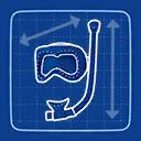 Blueprint Snorkel Mask icon
