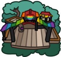 Rainbow Puffle Tree House icon