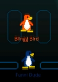 Blingg Bird y Funni Dude en el Mundo Digital