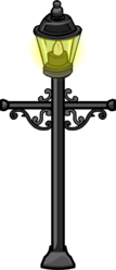 Wrought Iron Lamp Post