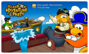 Island Adventure Party 2010 login screen ship