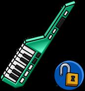 Green Keytar unlockable icon