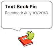 Text book pin in stamp book