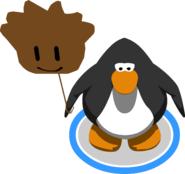 Brown Puffle Balloon in-game
