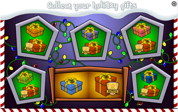 Daily Holiday Gift Calendar Club Penguin Wiki Fandom Powered By