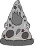 Pizza Blanca y Negra icono