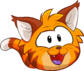 Puffle 2014 Transformation Player Card Orange Tabby Cat