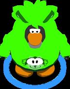 Green Raccoon Hoodie in-game
