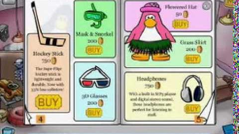 Old Club Penguin Home Page Advertisement 2005
