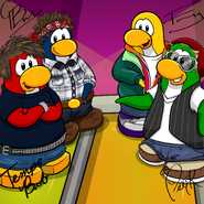 Penguin Band Background photo fr