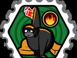 Fire Ninja stamp (Card-Jitsu Snow)