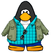 Blue Casual Duds from a Player Card