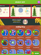 Holiday Shop menu
