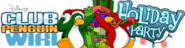 Ocean6100's entry for Holiday Party Club Penguin Wiki logo