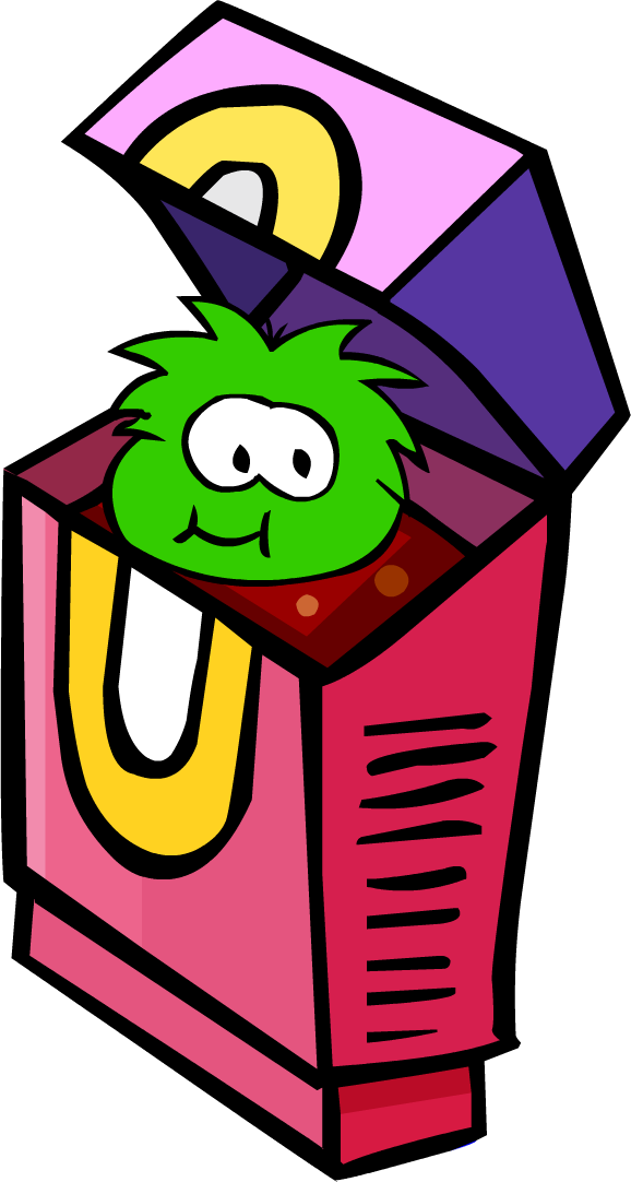 2007 Pet Shop Green Puffle eating Puffle-O's