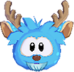 Puffle ciervo azul
