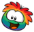 Rainbow Puffle Pin