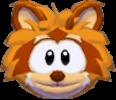 Orange raccoon 3d icon