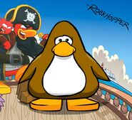 Rockhopper's brand new giveaway background with penguin