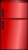 Shiny Red Fridge