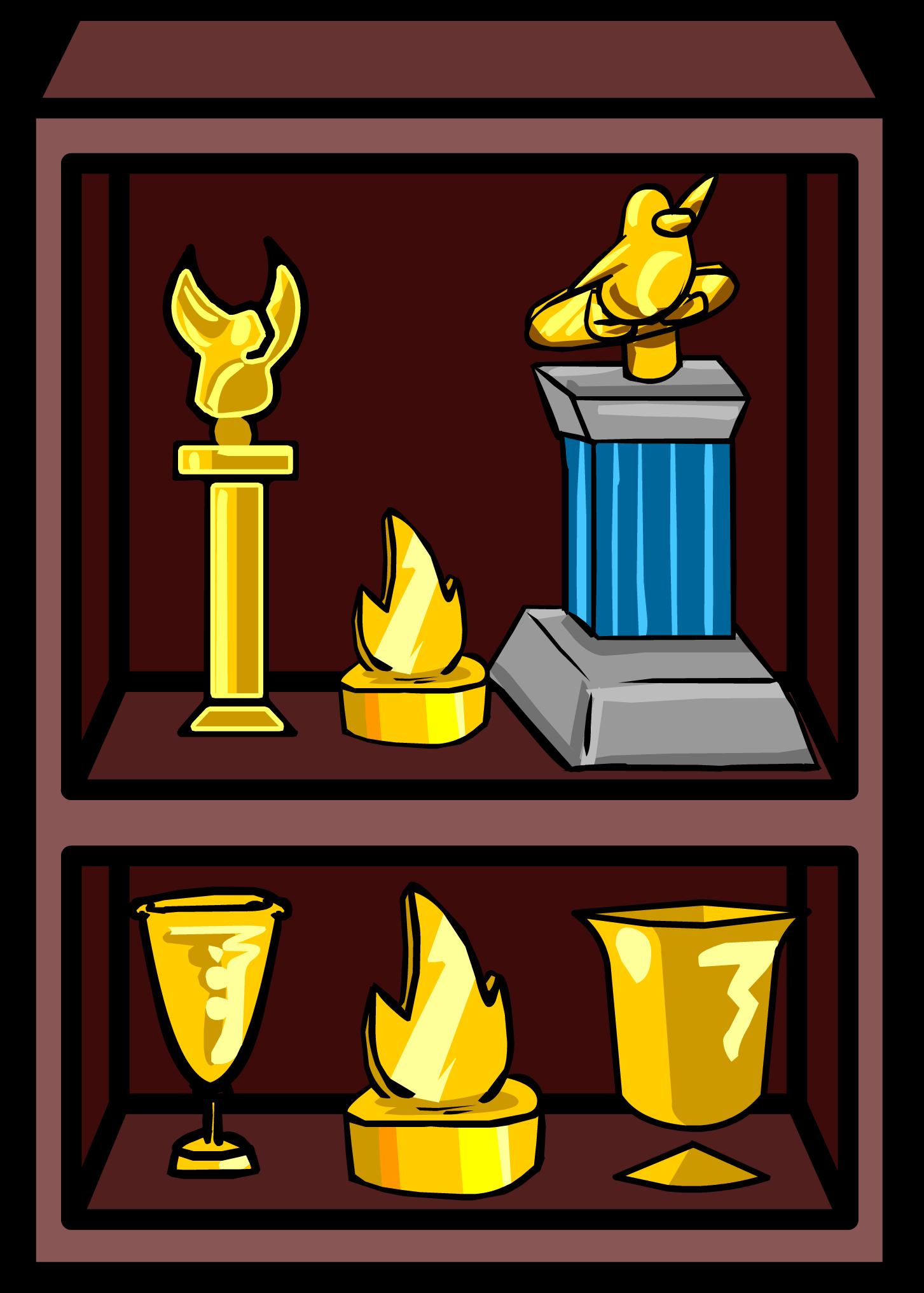 Image Trophy Shelf Sprite 001 Png Club Penguin Wiki Fandom Rh Clubpenguin Wikia Com Racing Clip Art 1st Place