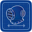 Blueprint Diving Helmet icon
