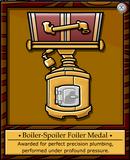 Boiler-Spoiler Foiler Medal
