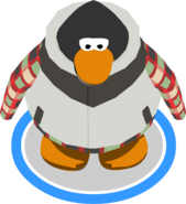 Evergreen Snow Vest in-game