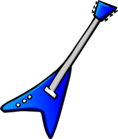Blue Electric Guitar Icon 5063
