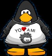 Camiseta Yo Amo a mi Puffle Negro carta