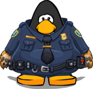 Clawhauser Costume on a Player Card