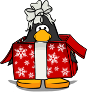 Gift Costume on a Player Card