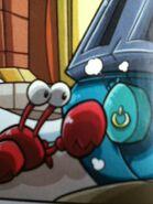 Klutzy tocando un boton
