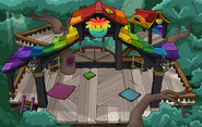 Rainbow Puffle Tree House sprite