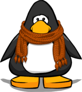 Cozy Orange Scarf from a Player Card