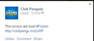 Frozen CP FB Confirmed