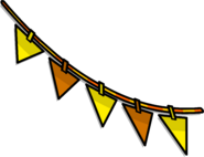 Orange Triangle Pennants sprite 003