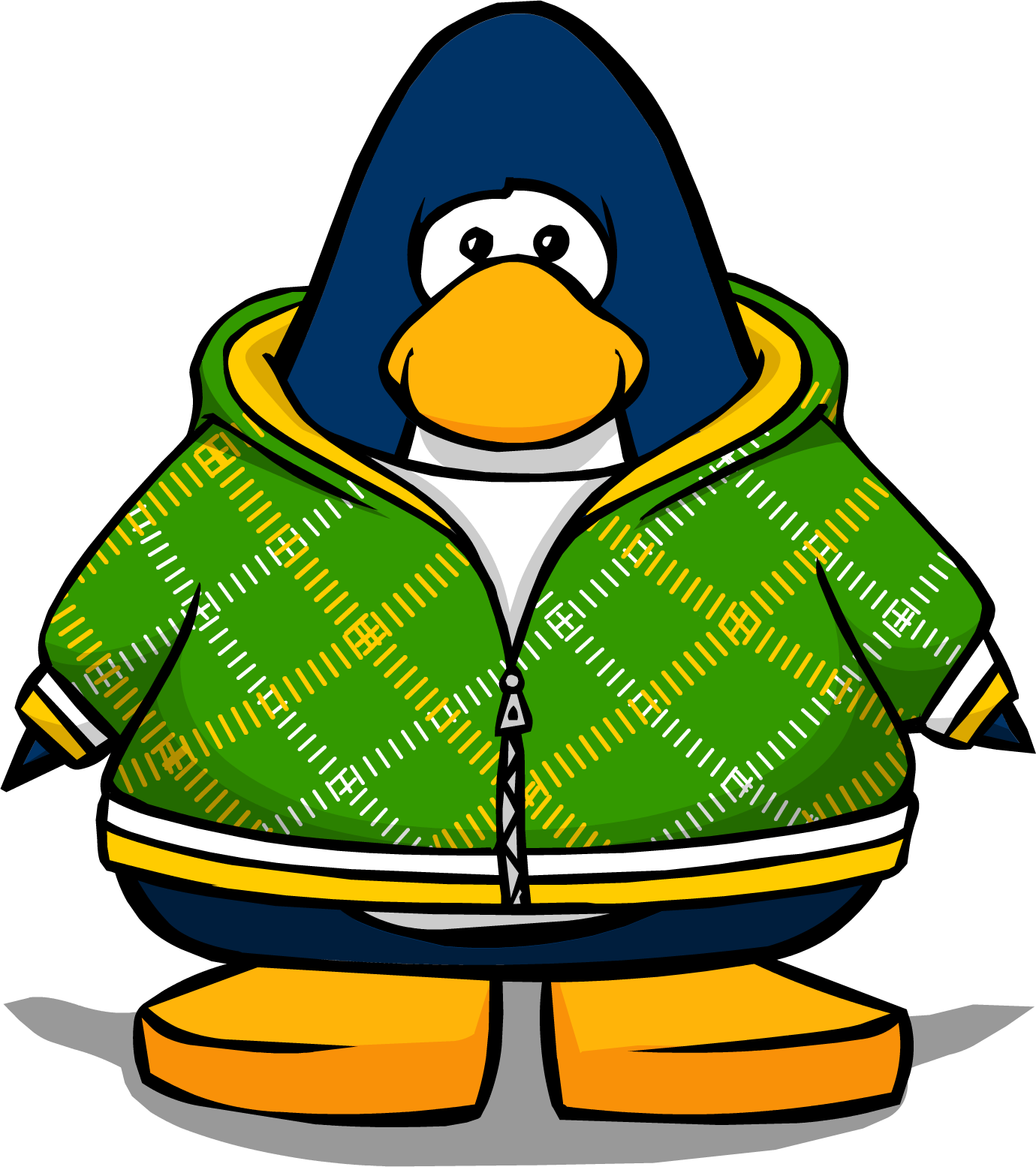 Green Crosshatch Hoodie from a Player Card